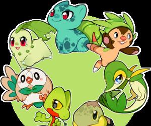pokemon, green, and chikorita image