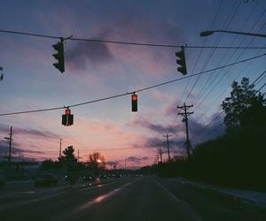 sky, sunset, and grunge image
