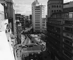 black and white, bucharest, and romania image