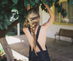 braid, girl, and hipster image