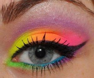 makeup, colorful, and colors image