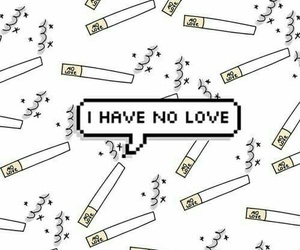 love, wallpaper, and cigarettes image