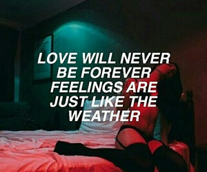 love, quotes, and weather image