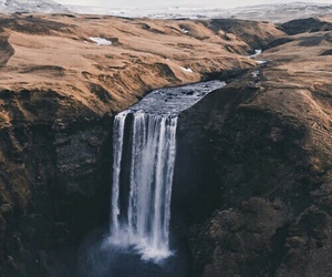iceland, mountains, and waterfall image