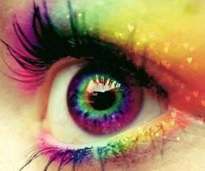 colorful, eye, and rainbow image