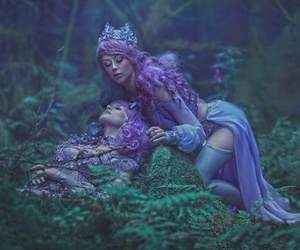 beauty, hair, and fantasy image
