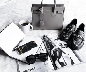 shoes, bag, and coffee image