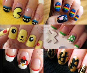 epic, nail art, and pacman image