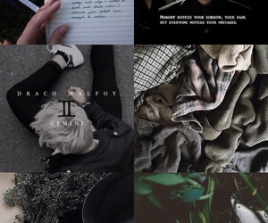 aesthetic, draco malfoy, and gemini image