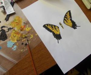 art, butterfly, and paramore image
