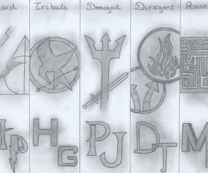 harry potter, divergent, and books image