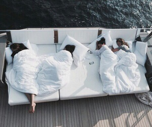 friends, summer, and bed image