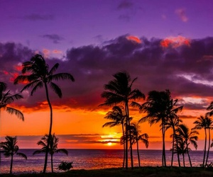 sunset, hawaii, and nature image
