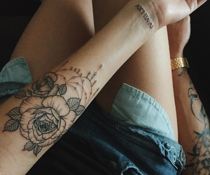 tattoo, boy, and girl image