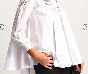 blouse, dentelle, and summer image