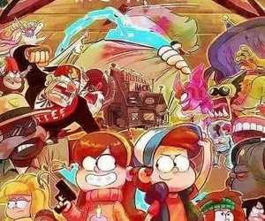 gravity falls, weirdmageddon, and take back the falls image