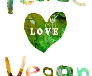 peace, vegan, and love image