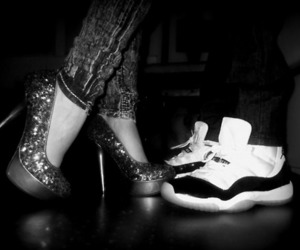 couple, sparkles, and heels image