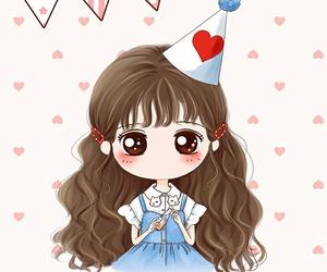 girl, kawaii, and wallpaper image
