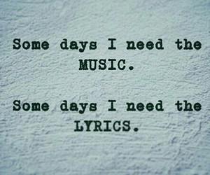 Lyrics, music, and need image