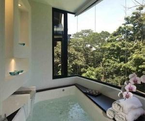 bathroom, bath, and luxury image