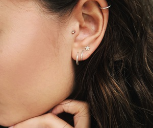 piercing, earrings, and helix image