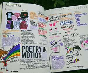 funny, journal, and rainbows image