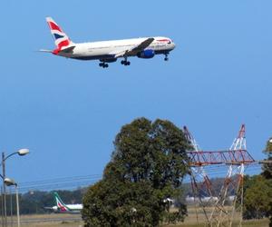 airplane, british airways, and airport image