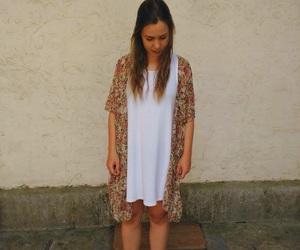 brown, clothes, and kimono image