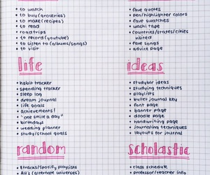 list, notes, and bullet journal image