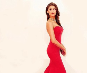 Nina Dobrev, dress, and red image