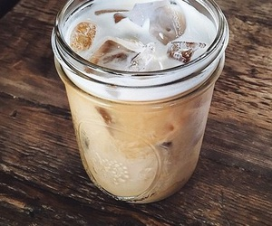 yum, caffe, and ice latte image