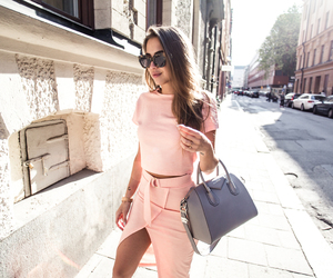 brunette, fashion, and sunglasses image