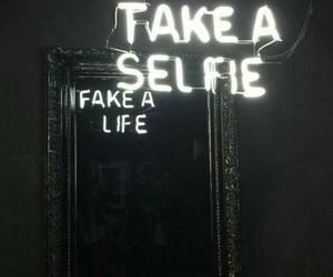 selfie, mirror, and fake image