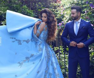 blue, gown, and said mhamad image