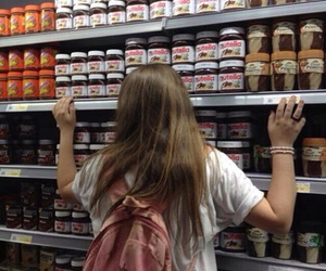 girl, nutella, and tumblr image