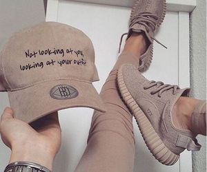 yeezy boost and camel brown image