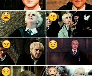 funny, draco malfoy, and harry potter image