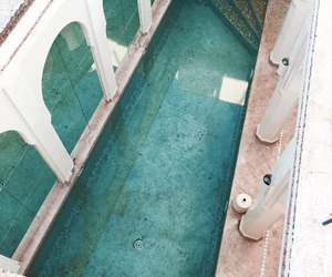 pool, turquoise, and blue image