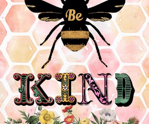 bee, summer, and be kind image