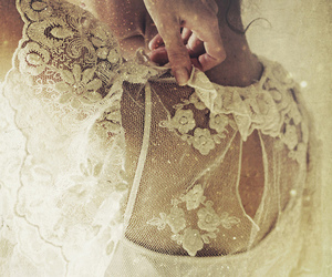 lace, vintage, and white image