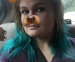 blue hair, blue tips, and blue dyed hair image