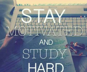 study, hard, and motivation image
