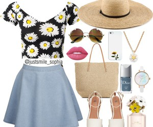 accesories, clothes, and daisy image