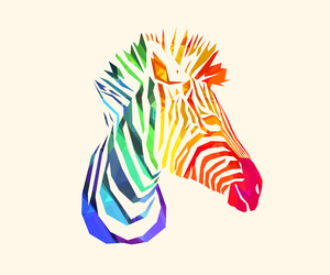 zebra, animal, and art image