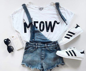 adidas, fashion, and meow image
