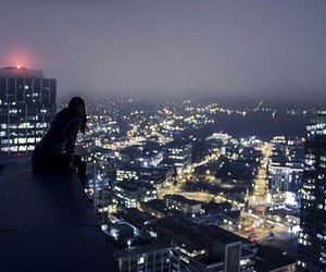 alone, city, and girl image