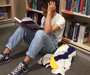 boy, book, and tumblr image