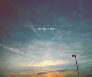quote, imagine, and words image