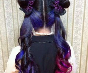 galaxy, hair, and japan image